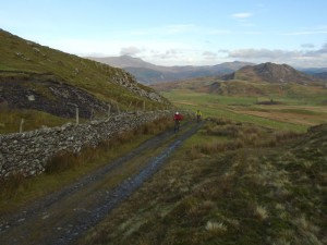 Stuart and Brian near the top of the Ffordd Ddu climb.